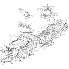 Stiga Spare Parts for 2T0950681/15 ESTATE 7102 HWS