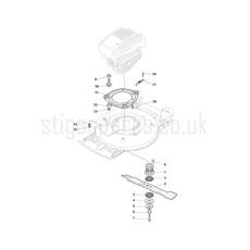 Stiga Spare Parts for MULTICLIP PRO 50 291501138 2017 model
