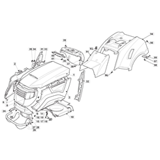 Mountfield Spare Parts for 1636H (2T0430483/M11) 2018 model