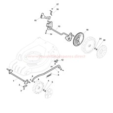 Axles and Height Adjuster spare parts
