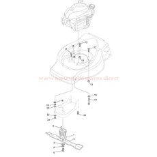 Hub With Pulley, Crankshaft Ø 22.2 spare parts
