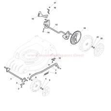 Axles and Wheels spare parts