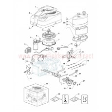 Mountfield Spare Parts for 1538H-SD (2T0630483) 2015 model