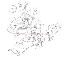 Deck and Height Adjuster Assy spare parts