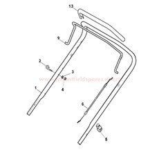 Handle, Upper Part (ERGO Version) spare parts