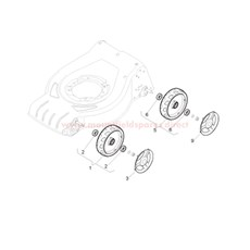 Wheel and bushes spare parts