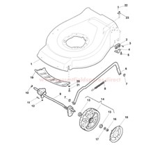 Deck & Front Axle Assy. spare parts