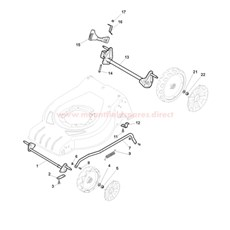 Axle, Front Wheels spare parts