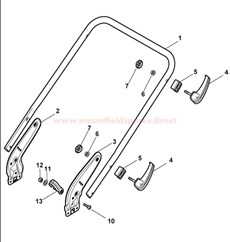 Handle, Lower Part spare parts
