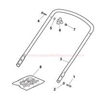 Handle, Bottom section spare parts