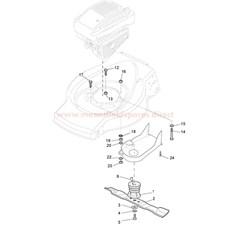 Blade and Hub, Crankshaft 22.2 spare parts