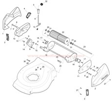 Rear Roller Assy. spare parts