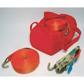 10m Strap Complete with Hooks to Hold 2500kg (4 Pack) No LR057