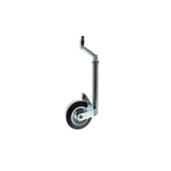 42mm Jockey Wheel with Solid Rubber Wheel (footbrake) No JW003