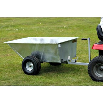 Galvanised Tipping Dump Trailer - Wide Profile Wheels GDTT/GALV