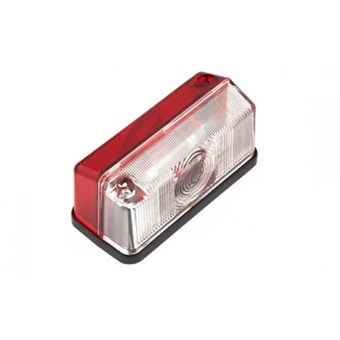 Surface Mounted Side Marker Light Red & White No EL150