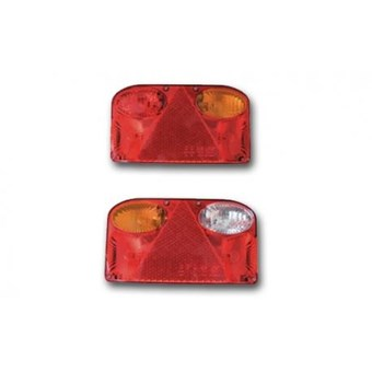 A Pair of Offside & Nearside Rounded Horizontal Plug in Rear Light Cluster No EL269 & EL270