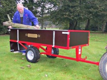 Two wheel timber 15CWT Tipping Trailer GWTS15
