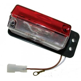 Side Marker Light with Plastic Arm for Mounting Red & White No EL179
