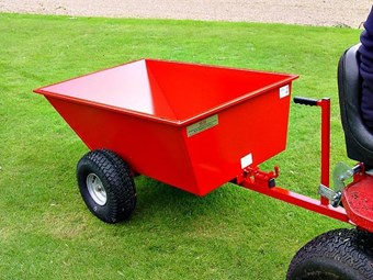 Steel Tipping Dump Trailer-Wide Profile Wheels GDTT