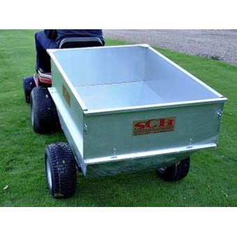 Large Capacity Galvanised Tipping Dump Trailer - Wide Profile Wheels GT/GALV
