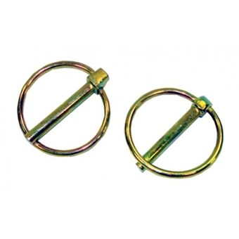 6mm Lynch Pins with O Rings. 43mm O Diameter & 45mm Long (2 Pack) No INAP009