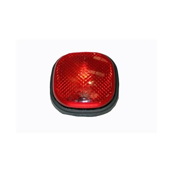 Red Rubber surface Mounted Fog Light No EL376
