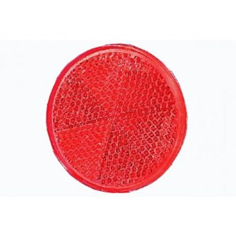 Red Circular Self Adhesive Reflector No EL380