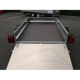 Indespension Unbraked Goods Trailer with Ramp Tailgate 8 x 5 for Hire