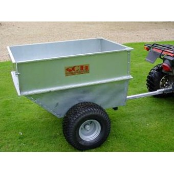 Large Capacity Galvanised Tipping Dump Trailer - Flotation Wheels QDGT