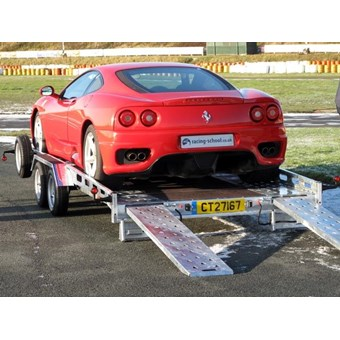 Indespension Car transporter 14ft x 7 Trailer hire