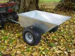 Galvanised Tipping Dump Trailer - Flotation Wheels QDT