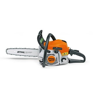 Stihl MS 171 Petrol Chainsaw, Ideal for general cutting and trimming tasks in the garden.