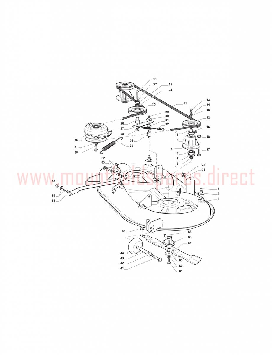 Ride-on SD98 - 108 Cutting Plate assembly | Mountfield 1538H