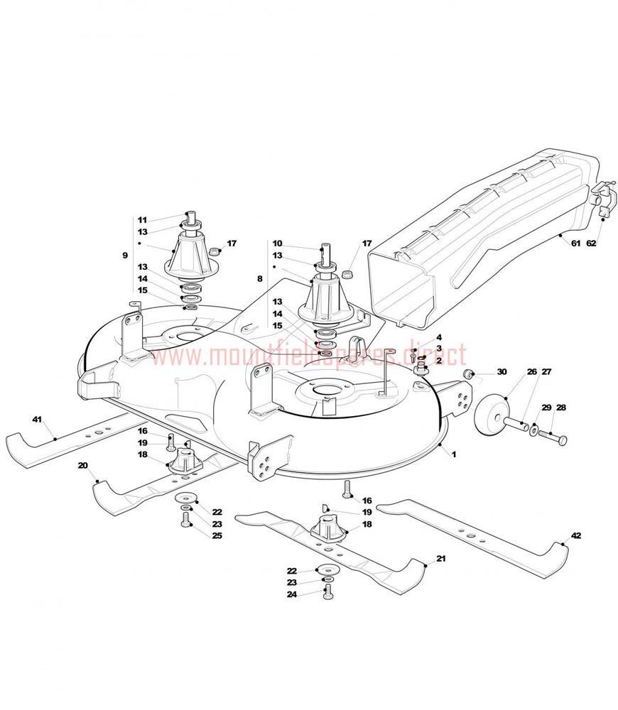 Mountfield 1640 H Anti Scalp Deck Wheel Spacer X2 125510072//1