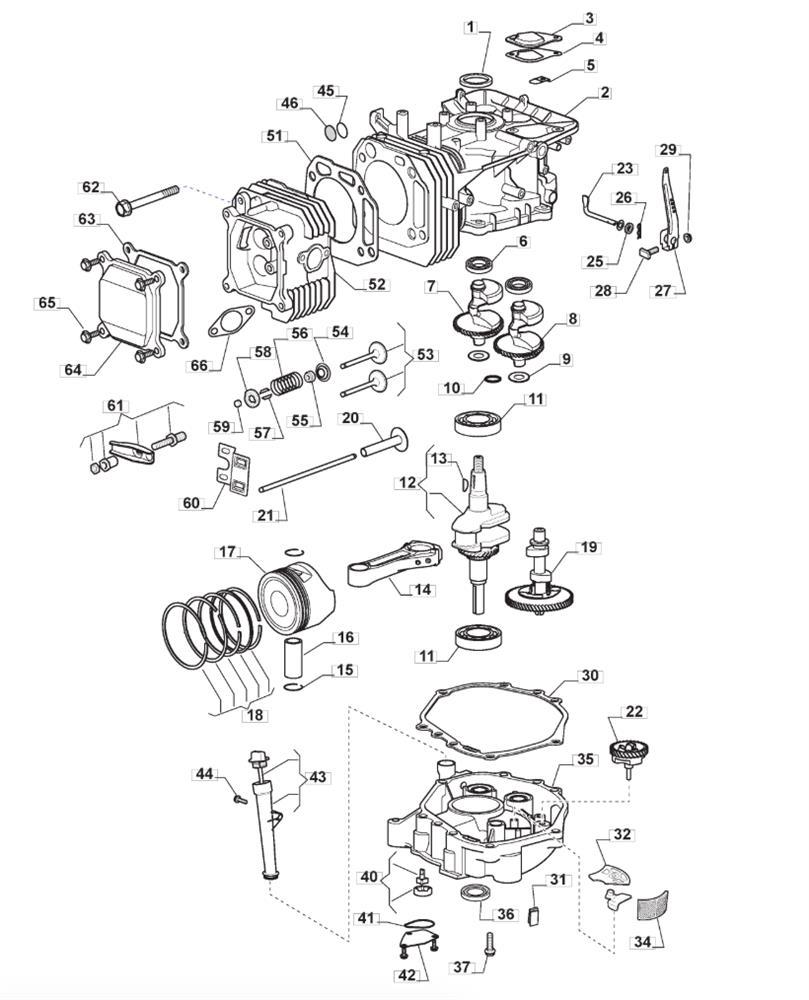 Mountfield 1530 M Ride On Mower TRE0801 Engine Cylinder Head Gasket Set