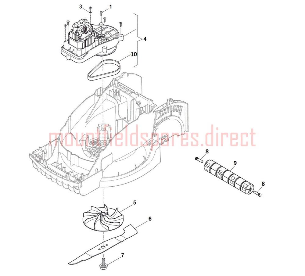 Lawn Roller Parts : Roller assembly mountfield princess w