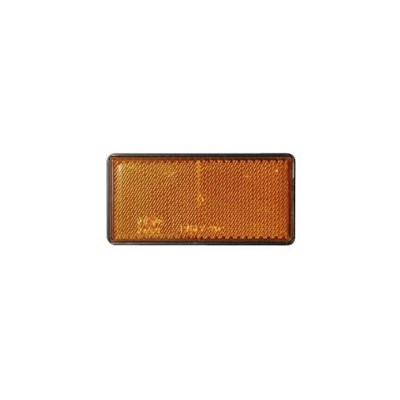 Rectangular Orange Self Adhesive Reflector No EL041