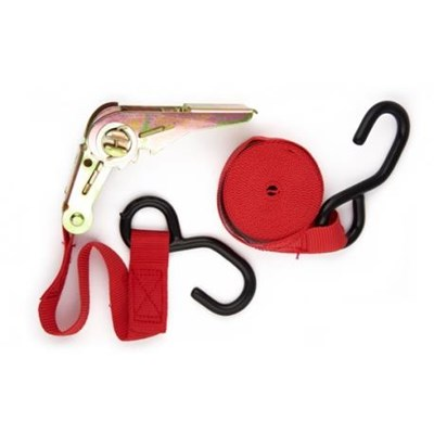 4m Ratchet Straps Complete with Hook end Fitting & Ratchet Tensioner No LR105